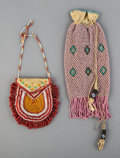 American Indian Art:Beadwork and Quillwork, Two West Coast Beaded Hide Pouches... (Total: 2 )