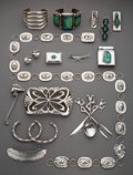 American Indian Art:Jewelry and Silverwork, Eighteen Navajo Jewelry Items... (Total: 17 )