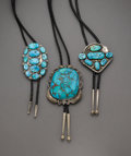 American Indian Art:Jewelry and Silverwork, Three Navajo Bolo Ties... (Total: 3 )