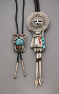 American Indian Art:Jewelry and Silverwork, Two Navajo Bolo Ties... (Total: 2 )