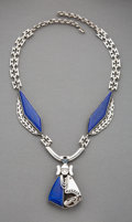 American Indian Art:Jewelry and Silverwork, A Navajo Necklace / Brooch...