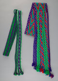 American Indian Art:Beadwork and Quillwork, Two Osage Hand-woven Sashes... (Total: 2 )