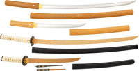 A Very Fine and Rare Shin Shinto Daisho with Both Blades by Enomoto Sadayoshi in Soft Metal Daisho Mounts. ... (Total: 4...