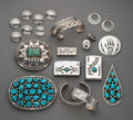 American Indian Art:Jewelry and Silverwork, Fourteen Southwest Jewelry Items... (Total: 14 )