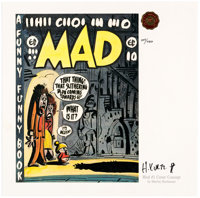 Harvey Kurtzman MAD #1 Cover Concept Signed Limited Edition Lithograph #107/750 (1991)