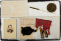 Militaria:Ephemera, 1st New Hampshire Cavalry Collection with Flag Fragment.. ... (Total: 2 Items)