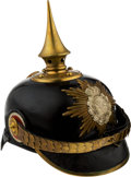 Militaria:Helmets, Royal Saxon 1st Life Guard Grenadier Regiment No. 100 NCOs' Spiked Helmet.. ...