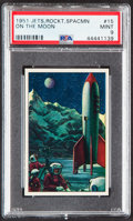 """Non-Sport Cards:Singles (Post-1950), 1951 Bowman Jets, Rockets, & Spacemen """"On The Moon"""" #15 PSA Mint 9 - Only One Higher...."""