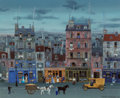 Michel Delacroix (French, b. 1933) Cheval Blanc, Cheval Noir Oil on canvas 23-1/2 x 28-3/4 inches