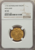 Netherlands:Holland, Netherlands: Holland. Provincial gold Ducat 1770 XF45 NGC,...