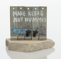 Banksy X Lushsux X The Walled Off Hotel Souvenir Wall Section, 2018 Painted cast resin with concrete 4-1/4 x 5 x 3-1/...