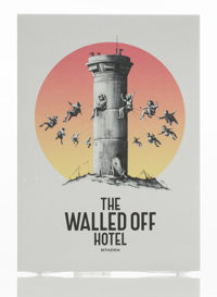 Banksy X The Walled Off Hotel The Walled Off Hotel Postcards, 2017 Offset lithographs in colors on p