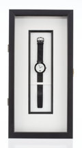 Clocks & Mechanical, Kenneth Noland X Omega. Untitled, 1987. Stainless steel watch. 9-1/2 x 1-1/2 inches (24.1 x 3.8 cm). Limited Edition. Pr...