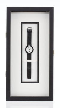Kenneth Noland X Omega Untitled, 1987 Stainless steel watch 9-1/2 x 1-1/2 inches (24.1 x 3.8 cm)<