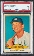 Baseball Cards:Singles (1950-1959), 1954 Red Heart Mickey Mantle PSA EX 5....