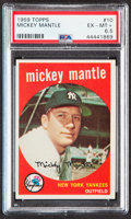 Baseball Cards:Singles (1950-1959), 1959 Topps Mickey Mantle #10 PSA EX-MT+ 6.5....