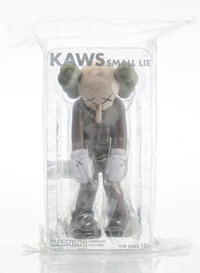 KAWS (b. 1974) Small Lie (Brown), 2017 Painted cast vinyl 11 x 5 x 4-1/2 inches (27.9 x 12.7 x 11