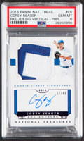 Baseball Cards:Singles (1970-Now), 2016 Panini National Treasures Corey Seager Rookie Patch Autograph #CS PSA Gem Mint 10 - Numbered 7/49!...