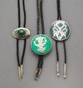 American Indian Art:Jewelry and Silverwork, Three Mexican Bolo Ties... (Total: 3 )