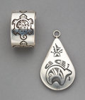 American Indian Art:Jewelry and Silverwork, Two Hopi Jewelry Items... (Total: 2 )