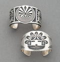 American Indian Art:Jewelry and Silverwork, Two Hopi Cuff Bracelets... (Total: 2 )