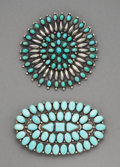 American Indian Art:Jewelry and Silverwork, Two Large Navajo Brooches... (Total: 2 )