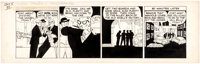 Chester Gould Dick Tracy Daily Comic Strip Original Art dated 10-5-45 (News Syndicate, 1945)