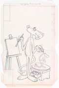 Original Comic Art:Complete Story, Joe Messerli The Pink Panther #75 Near-Complete Issue including Cover Original Art Group of 23 (Western/Whitman Pu... (Total: 23 Items)