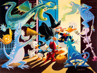 Carl Barks Halloween in Duckburg Signed Limited Edition Lithograph #249/350 (Another Rainbow, 1992)