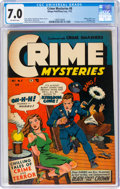 Golden Age (1938-1955):Crime, Crime Mysteries #8 (Ribage Publishing, 1953) CGC FN/VF 7.0 Off-white pages....