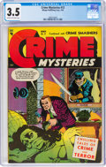 Golden Age (1938-1955):Crime, Crime Mysteries #12 (Ribage Publishing, 1954) CGC VG- 3.5 Cream to off-white pages....