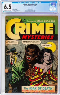 Crime Mysteries #10 (Ribage Publishing, 1953) CGC FN+ 6.5 Cream to off-white pages