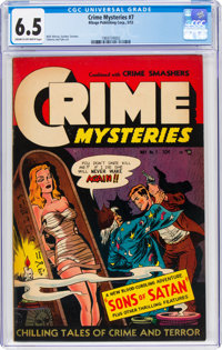 Crime Mysteries #7 (Ribage Publishing, 1953) CGC FN+ 6.5 Cream to off-white pages