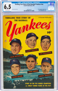 Thrilling True Story of the Baseball Yankees #nn (Fawcett Publications, 1952) CGC FN+ 6.5 Off-white pages