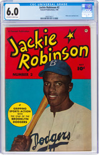 Jackie Robinson #2 (Fawcett Publications, 1950) CGC FN 6.0 Off-white to white pages