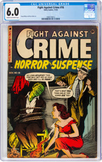 Fight Against Crime #16 (Story Comics, 1953) CGC FN 6.0 Cream to off-white pages