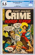 Golden Age (1938-1955):Crime, Fight Against Crime #19 (Story Comics, 1954) CGC FN- 5.5 Cream to off-white pages....