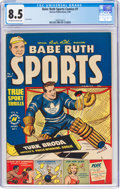 Golden Age (1938-1955):Miscellaneous, Babe Ruth Sports Comics #7 (Harvey, 1950) CGC VF+ 8.5 Off-white to white pages....