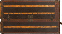 "Louis Vuitton Coated Canvas Vertical Steamer Trunk Condition: 4 22.5"" Width x 44"" Height x 25.5"" Depth..."