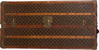 "Louis Vuitton Painted Monogram Coated Canvas Vertical Steamer Trunk Condition: 4 22"" Length x 44.5"" Height x 2..."