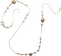 """Luxury Accessories:Accessories, Chanel Faux Pearl & Gold Accent CC Necklace. Condition: 2. 52"""" Length. ..."""