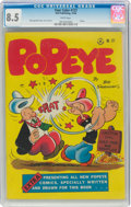 Golden Age (1938-1955):Humor, Four Color #127 Popeye (Dell, 1946) CGC VF+ 8.5 White pages....