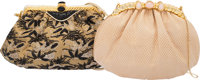 Judith Leiber Set of Two: Evening Bags with Gold Hardware Condition: 4 See Extended Condition Report for Sizes...... (To...