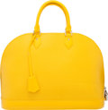 "Luxury Accessories:Bags, Louis Vuitton Yellow Epi Leather Alma GM. Condition: 3. 14"" Width x 10.5"" Height x 6.5"" Depth. ..."