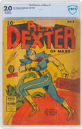 Golden Age (1938-1955):Science Fiction, Rex Dexter of Mars #1 (Fox Features Syndicate, 1940) CBCS GD 2.0 Off-white pages....