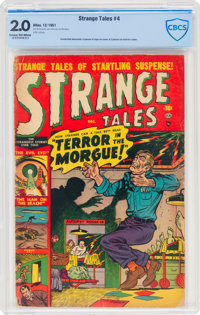 Strange Tales #4 (Atlas, 1951) CBCS GD 2.0 Cream to off-white pages