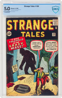 Strange Tales #100 (Marvel, 1962) CBCS VG/FN 5.0 Cream to off-white pages