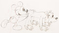 Animation Art:Production Drawing, Society Dog Show Mickey Mouse and Pl...