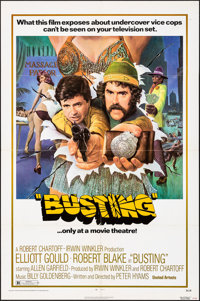 "Busting (United Artists, 1974). Folded, Very Fine-. One Sheet (27"" X 41""), Lobby Card Set of 8 (11""X 14&q..."