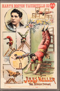 """Movie Posters:Miscellaneous, Jules Keller: The Human Enigma (c.1904). Very Good on Board. Theatrical Poster (25.25"""" X 38""""). Miscellaneous.. ..."""